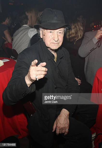 Jonas Mekas attends the 40th Anniversary of the Anthology Film Archive at the Hiro Ballroom at The Maritime Hotel on May 19 2010 in New York City