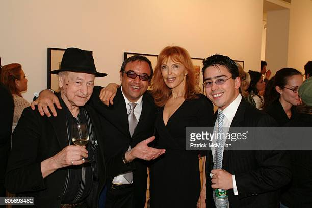 Jonas Mekas Harry Stendhal Tina Louise and Javier Mikio Tamura attend Opening of an Exhibition of works by JOSE CLEMENTE OROZCO at Maya Stendhal...