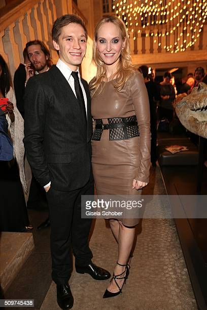Jonas Nay and Anne MeyerMinnemanneditor in chief of Gala during the 'Berlin Opening Night of GALA UFA Fiction' at Das Stue Hotel on February 11 2016...