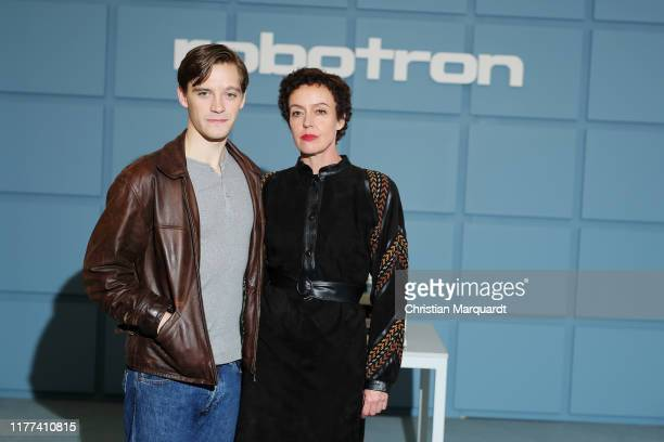 Jonas Nay and Maria Schrader attend the set photo call for the series Deutschland89 on September 27 2019 in Berlin Germany