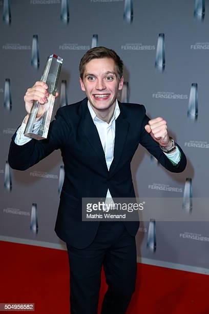 Jonas Nay attends the German Television Award at Rheinterrasse on January 13 2016 in Duesseldorf Germany