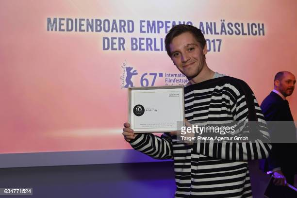 Jonas Nay attends the Medienboard BerlinBrandenburg Reception during the 67th Berlinale International Film Festival Berlin at on February 11 2017 in...