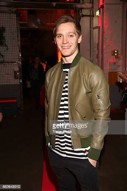 Jonas Nay attends the warmup party by Filmfoerderung Hamburg SchleswigHolstein at Kampnagel on January 24 2017 in Hamburg Germany