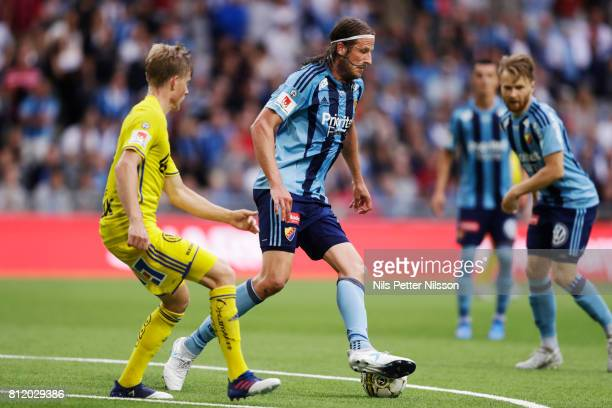 Jonas Olsson of Djurgardens IF during the Allsvenskan match between Djurgardens IF and GIF Sundsvall at Tele2 Arena on July 10 2017 in Stockholm...