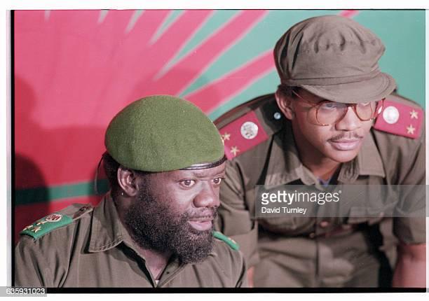 Jonas Savimbi and Assistant