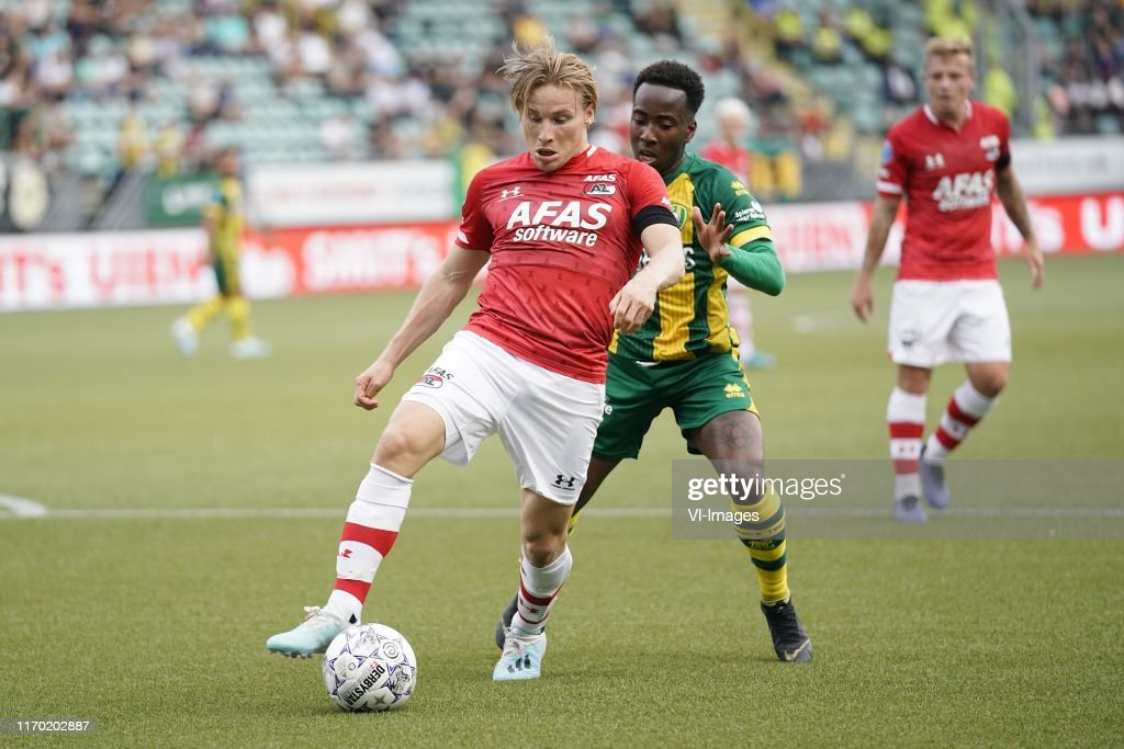 Jonas Svensson Of Az Elson Hooi Of Ado Den Haag During The Dutch News Photo Getty Images