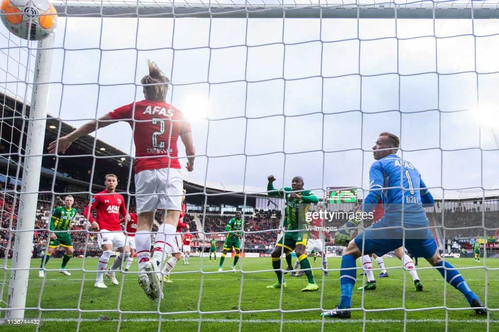 Jonas Svensson Of Az Erik Falkenburg Of Ado Den Haag Az Goalkeeper News Photo Getty Images