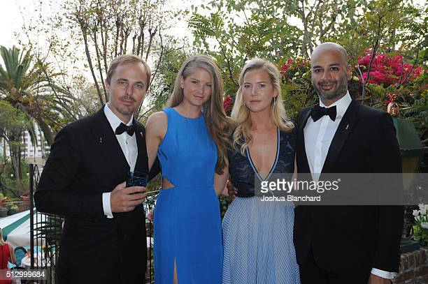 Jonas Tahlin Kacie Pardasani Janinia Thalin and Pavan Pardasani attend the Oscars Viewing Party at the Private Residence of Jonas Tahlin CEO of...