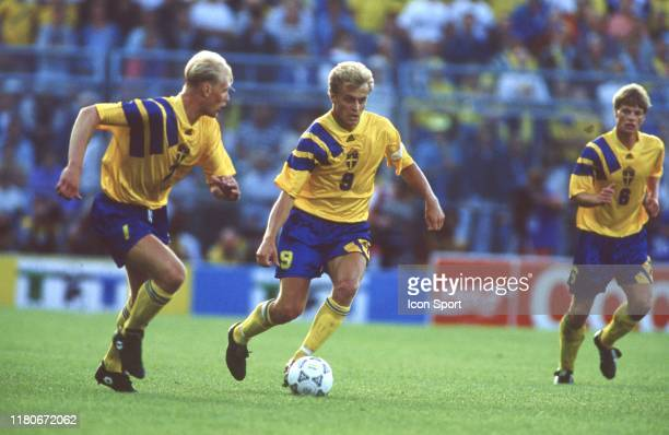 Jonas Thern of Sweden during the European Championship match between Sweden and France at Rasunda Stadium, Solna, Sweden on 10 June 1992 ?