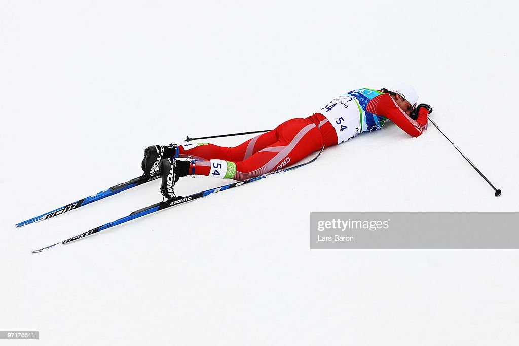 2020 Thor Winter Olympics.Jonas Thor Olsen Of Denmark Lies Exhausted After The Men S