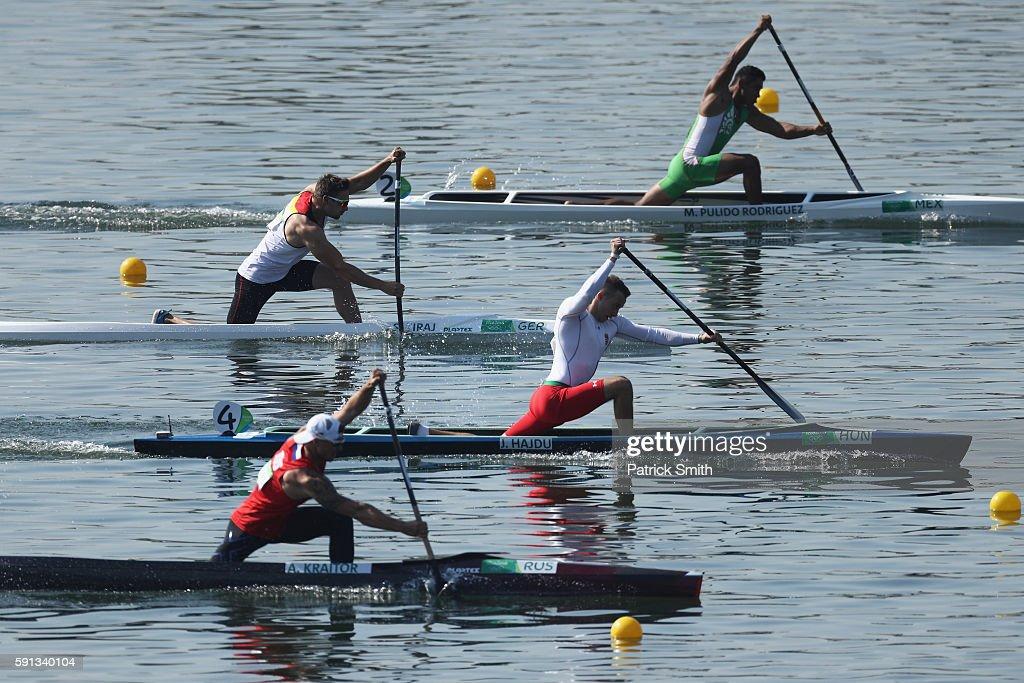 Jonatan Hajdu 2nd From Bottom Of Hungary Competes In The Mens Canoe Single 200m