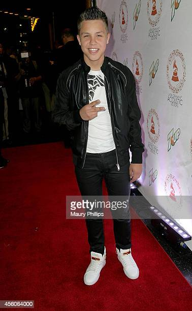 Jonatan Sanchez arrives at the Latin GRAMMY Acoustic Sessions LA with Prince Royce at the Fonda Theatre on September 24 2014 in Los Angeles California