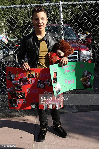 Jonatan Sanchez attends Latin GRAMMY Street Parties In LA with Los Tucanes De Tijuana on October 19 2014 in Los Angeles California