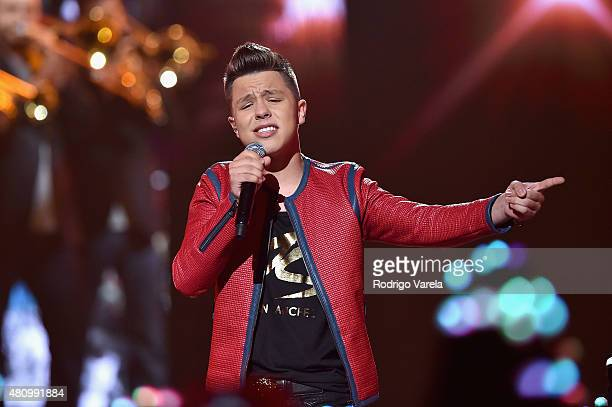Jonatan Sanchez performs onstage at Univision's Premios Juventud 2015 at Bank United Center on July 16 2015 in Miami Florida