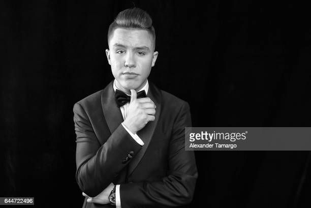 Jonatan Sanchez poses at Univision's 29th Edition of Premio Lo Nuestro A La Musica Latina at the American Airlines Arena on February 23 2017 in Miami...