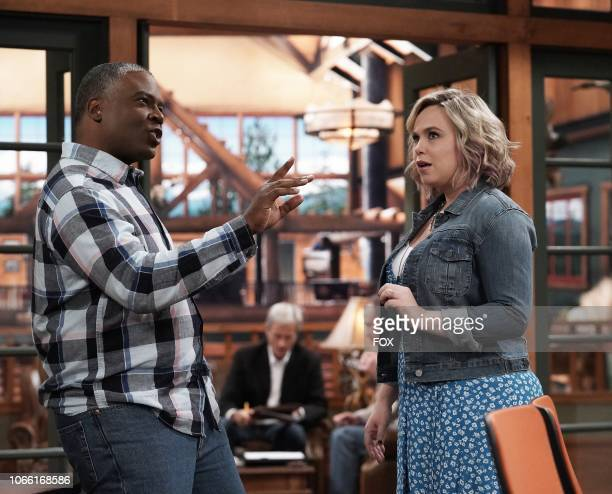 Jonathan Adams and Amanda Fuller in the allnew Dreams Vs Reality episode of LAST MAN STANDING airing Friday Nov 16 on FOX
