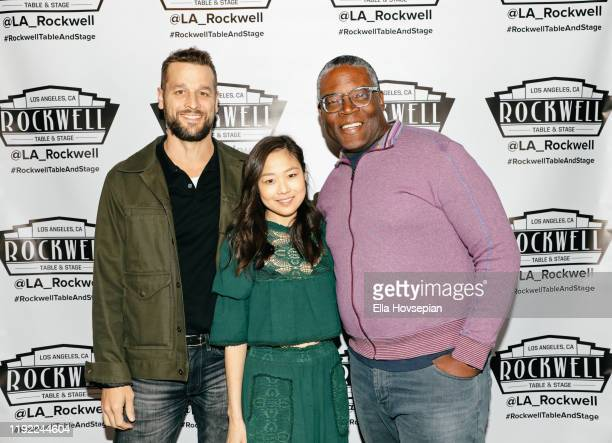 Jonathan Adams with Krista Marie Yu and guest at Rockwell Table and Stage on December 05 2019 in Los Angeles California