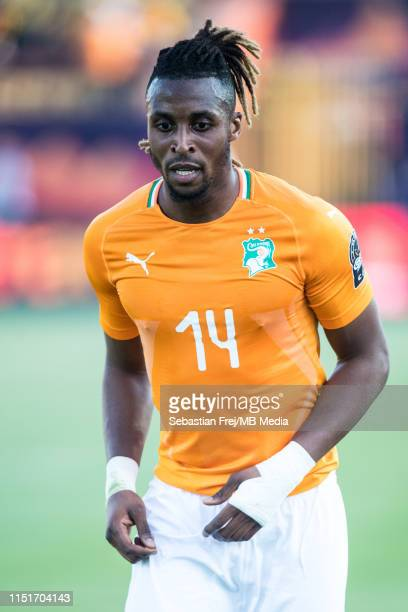 Jonathan Adjo Kodjia of Cote d'Ivoire during the 2019 Africa Cup of Nations Group D match between Cote d'Ivoire and South Africa at Al-Salam Stadium...