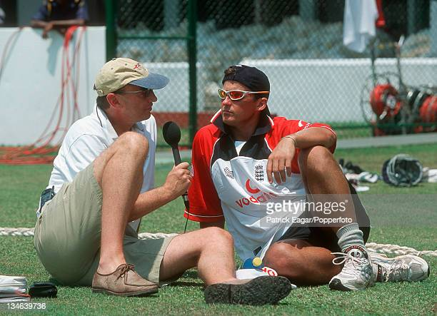 Jonathan Agnew and Darren Gough Sri Lanka v England 1st Test Galle Feb 01