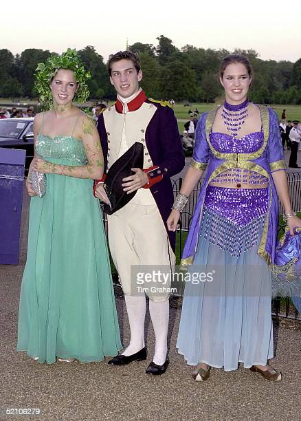 Jonathan Aitken's Children Alexandra William And Victoria Wearing 18th Century Costumes For A Lavish Birthday Ball Given By Prince And Princess...