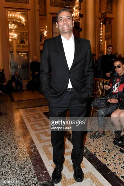 Jonathan Akeroyd attends the Versace show during Milan Men's Fashion Week Fall/Winter 2018/19 on January 13 2018 in Milan Italy