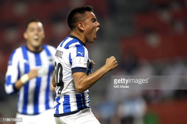 Jonathan Alexander GONZALEZ of Monterrey celebrates after his goal 31 during the FIFA Club World Cup 2nd round match between Al Hilal and Esperance...