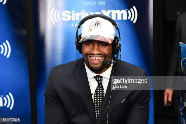 Jonathan Allen of Alabama visits the SiriusXM NFL Radio talkshow after being picked overall by the Washington Redskins during the first round of 2017...