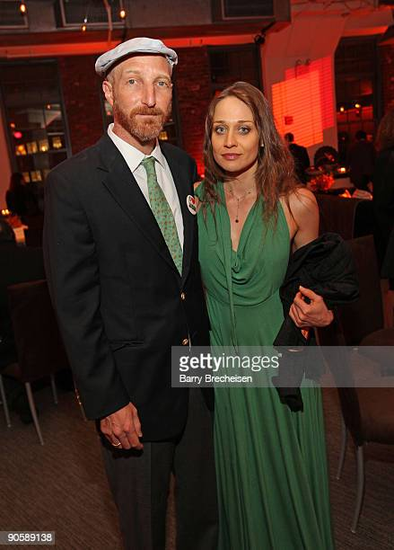 Jonathan Ames and Fiona Apple attend the premiere of HBO's Bored to Death at the Clearview Chelsea Cinemas on September 10 2009 in New York City