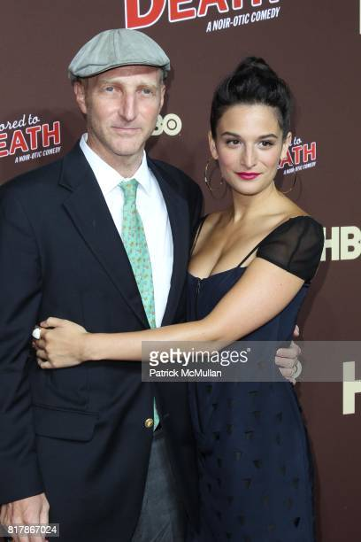 Jonathan Ames and Jenny Slate attend HBO Presents the Season Premiere of BORED TO DEATH at NYU Skirball Center on September 21 2010 in New York City