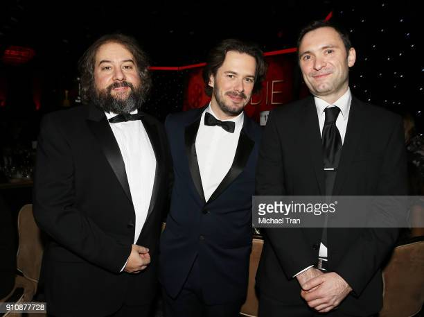 Jonathan Amos Paul Machliss and Edgar Wright attend the 68th Annual ACE Eddie Awards held at The Beverly Hilton Hotel on January 26 2018 in Beverly...