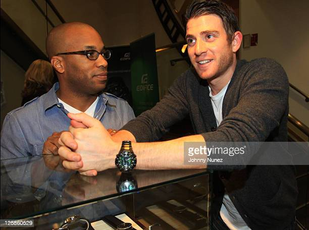 Jonathan and Bryan Greenberg attend the Casio Premier Timepiece exhibit cocktail party at Tourneau Time Machine on November 4 2010 in New York City