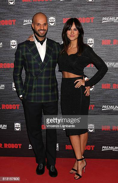 Jonathan and Michela Coppa attend the 'Mr. Robot' Tv Show Photocall on February 29, 2016 in Milan, Italy.