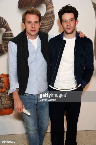 Jonathan Anderson and Josh O'Connor attend the Loewe Craft Prize 2018 at The Design Museum on May 3 2018 in London England