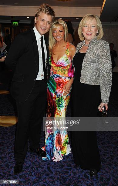 Jonathan Ansell and Debbie King with Clarie Horton attend the Variety Club Showbiz Awards at the Grosvenor House on November 15 2009 in London England