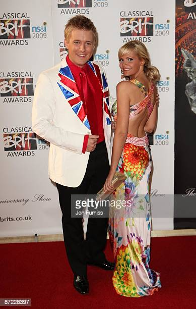 Jonathan Ansell partner attend the Classical Brit Awards at Royal Albert Hall on May 14 2009 in London England