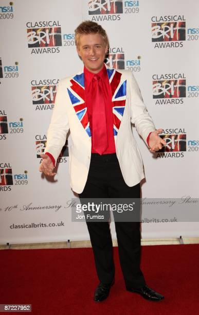 Jonathan Ansell partner attends the Classical Brit Awards at Royal Albert Hall on May 14 2009 in London England