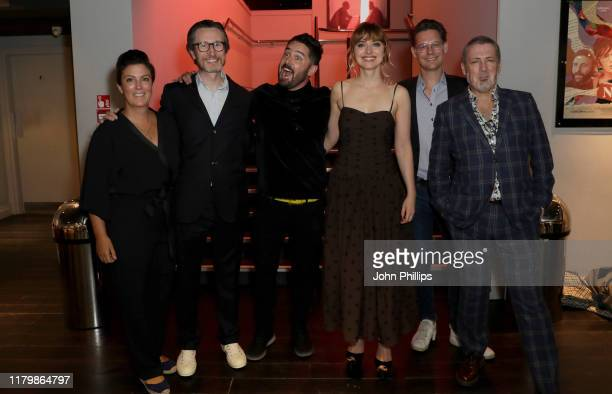 Jonathan Aris director Lorcan Finnegan Imogen Poots and guests attend the Vivarium European Premiere during the 63rd BFI London Film Festival at the...