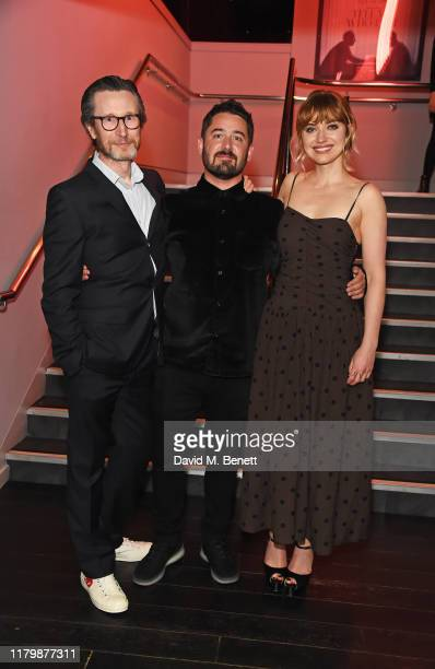 Jonathan Aris Lorcan Finnegan and Imogen Poots attend the European Premiere of Vivarium during the 63rd BFI London Film Festival at The Curzon Soho...