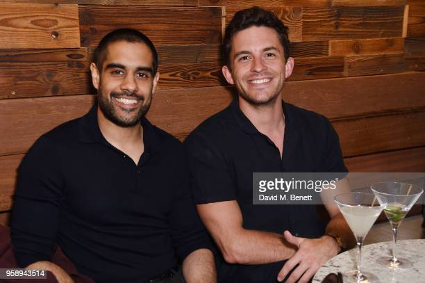 Jonathan Bailey and guest attends the Nobu Hotel London Shoreditch official launch event on May 15 2018 in London United Kingdom
