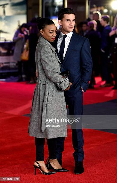 Jonathan Bailey and Pippa BennettWarner attend the UK Premiere of Testament of Youth at Empire Leicester Square on January 5 2015 in London England