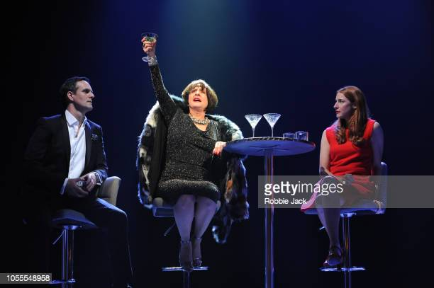 Jonathan Bailey as Jamie Patti Lupone as Joanne and Rosalie Craig as Bobbie in Stephen Sondheim'u2019s Company directed by Marianne Elliott at The...