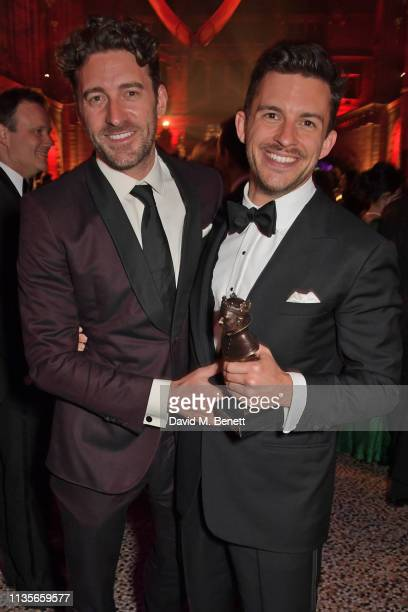 Jonathan Bailey attends The Olivier Awards 2019 after party at The Natural History Museum on April 7 2019 in London England