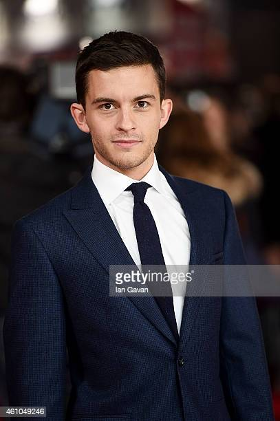 Jonathan Bailey attends the UK Premiere of Testament of Youth at Empire Leicester Square on January 5 2015 in London England