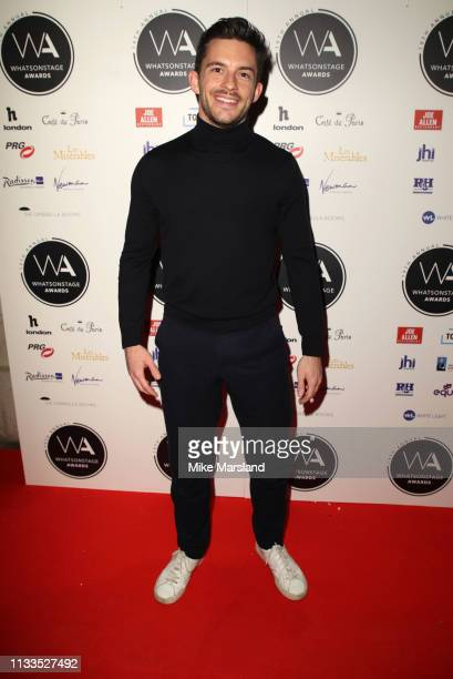 Jonathan Bailey attends the WhatsOnStage Awards at Prince Of Wales Theatre on March 03 2019 in London England