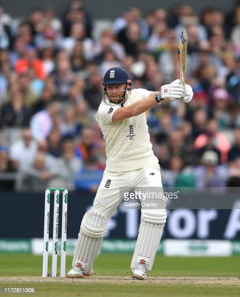 Jonathan Bairstow of England bats during day four of the 4th Specsavers Ashes Test match between England and Australia at Old Trafford on September...