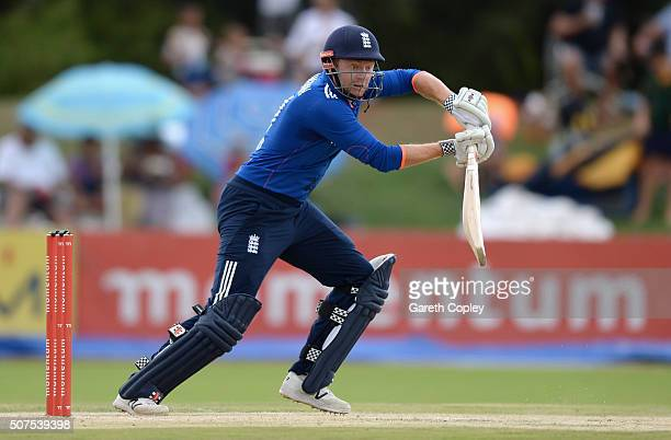 Jonathan Bairstow of England bats during the One Day Tour Match between South Africa A and England at the Diamond Oval on January 30 2016 in...