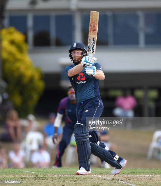 Jonathan Bairstow of England bats during the One Day Tour Match between England and The University of West Indies Vice Chancellor's XI at Three Ws...