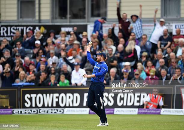 Jonathan Bairstow of England celebrates catching out Seekkuge Prasanna of Sri Lanka during the 3rd ODI Royal London One Day International match...