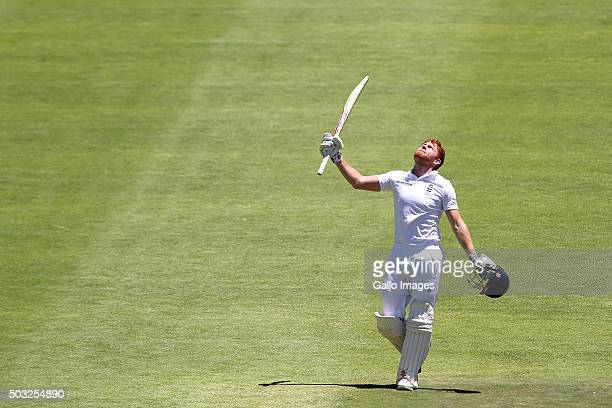 Jonathan Bairstow of England celebrates his maiden test century during day 2 of the 2nd Test match between South Africa and England at PPC Newlands...