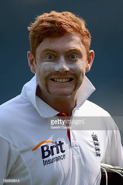 Jonathan Bairstow of England during day three of the tour match between Mumbai A and England at The Dr DY Palit Sports Stadium on November 5 2012 in...